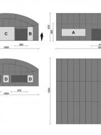 Carpa Hangar (180 m<sup>2</sup>)